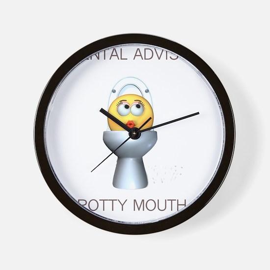 2-potty_mouth Wall Clock