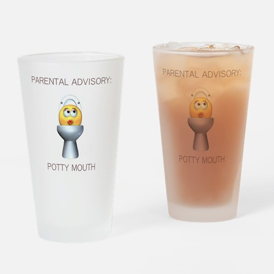 2-potty_mouth Drinking Glass