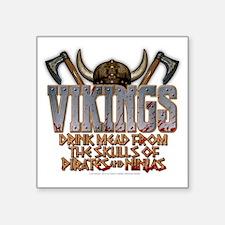 "vikings_shirt Square Sticker 3"" x 3"""