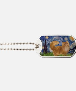 Starry Night - Red Persian cat Dog Tags