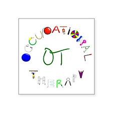 """OT3 green Square Sticker 3"""" x 3"""""""