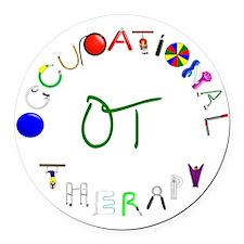 OT3 green Round Car Magnet