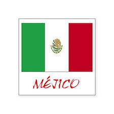 """2-mexico Square Sticker 3"""" x 3"""""""