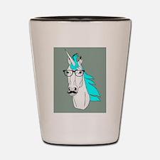 Hipster Unicorn Funny Humor Kawaii Shot Glass