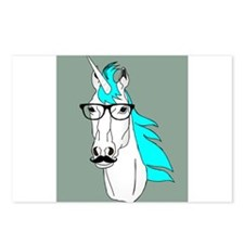 Hipster Unicorn Funny Humor Kawaii Postcards (Pack
