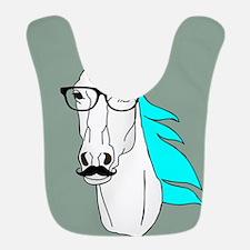 Hipster Unicorn Funny Humor Kawaii Bib