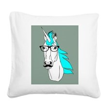 Hipster Unicorn Funny Humor Kawaii Square Canvas P