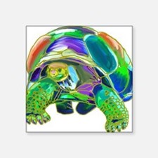 "Tortoise1 Square Sticker 3"" x 3"""