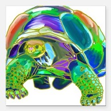 "Tortoise1 Square Car Magnet 3"" x 3"""