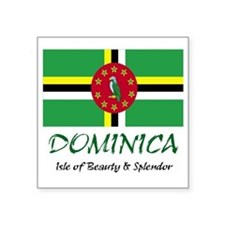 """2-dominica Square Sticker 3"""" x 3"""""""