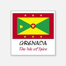"2-grenada Square Sticker 3"" x 3"""