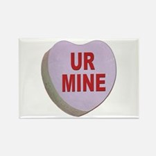 You Are Mine Valentine Candy Heart Rectangle Magne