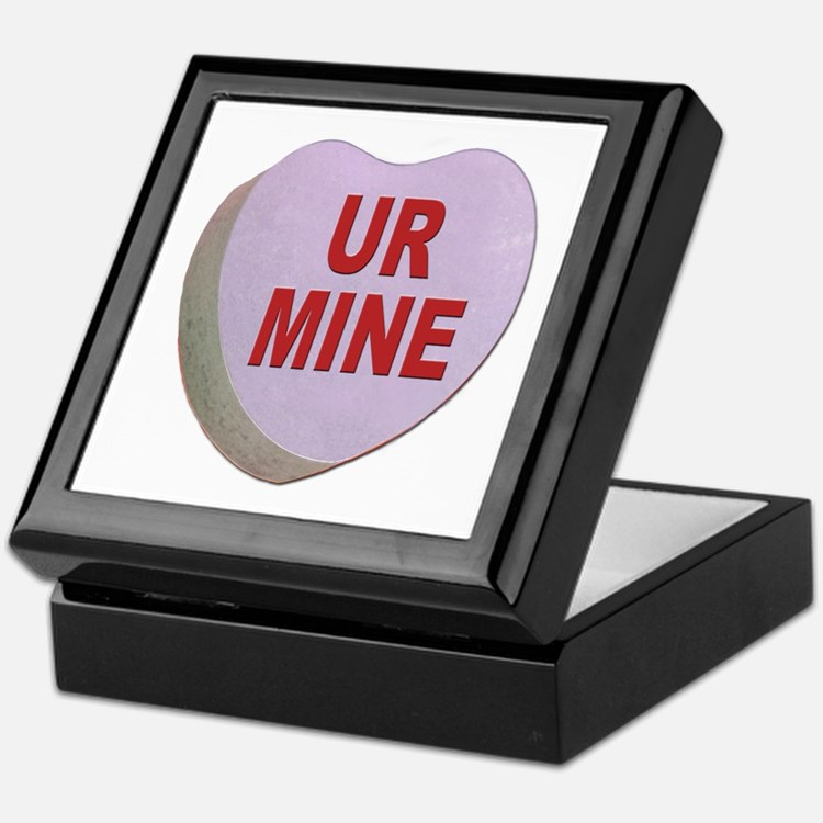 You Are Mine Valentine Candy Heart Keepsake Box