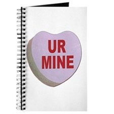 You Are Mine Valentine Candy Heart Journal