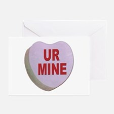 You Are Mine Valentine Candy Heart Greeting Cards