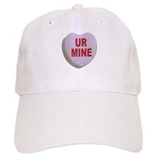 You Are Mine Valentine Candy Heart Baseball Cap