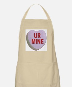 You Are Mine Valentine Candy Heart BBQ Apron