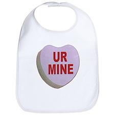 You Are Mine Valentine Candy Heart Bib