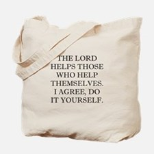 Lord Helps Tote Bag