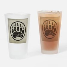 grizzly-paw-print Drinking Glass