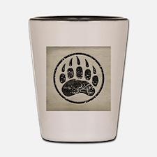 grizzly-paw-print Shot Glass