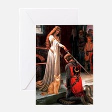 Accolade - Red Abyssinian Greeting Card