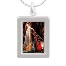 Accolade - Red Abyssinia Silver Portrait Necklace