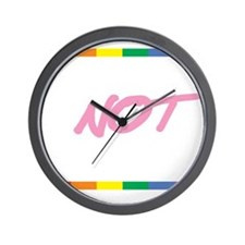 Hate-Family-Value-blk Wall Clock