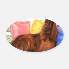 Irish Setter Dog Oval Car Magnet