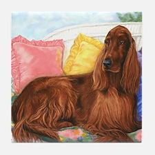 Irish Setter Dog Tile Coaster