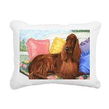 Irish Setter Dog Rectangular Canvas Pillow