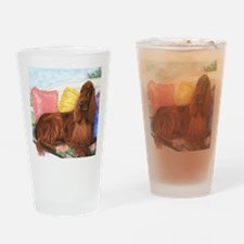 Irish Setter Dog Drinking Glass