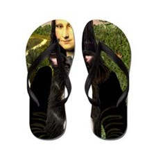 MP-Mona Lisa - Border C - redone Flip Flops