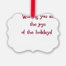 Christmas card inscription Ornament