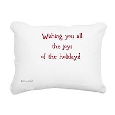 Christmas card inscripti Rectangular Canvas Pillow