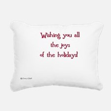 Christmas card inscripti Rectangular Canvas Pillow