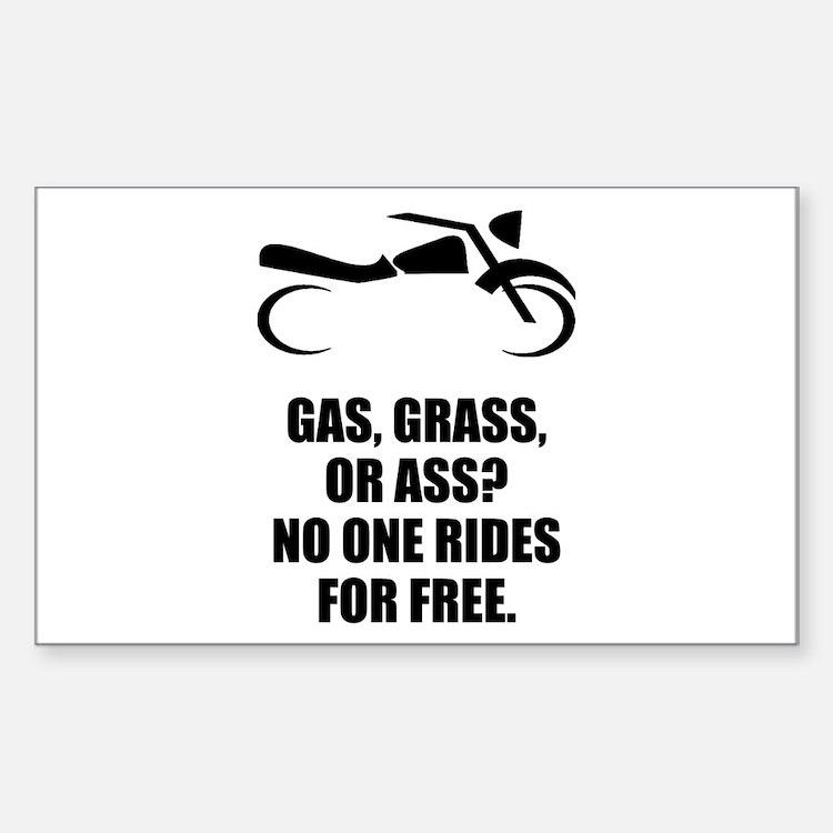 Motorcycle Gas Grass Ass Decal