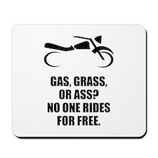 Motorcycle Gas Grass Ass Mousepad