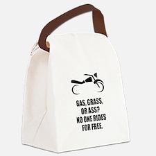 Motorcycle Gas Grass Ass Canvas Lunch Bag