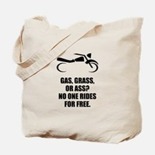 Motorcycle Gas Grass Ass Tote Bag