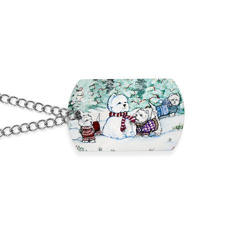 Christmas Card 1 12x8 Dog Tags