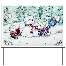 Christmas Card 1 12x8 Yard Sign