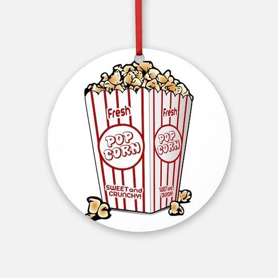 Movie Popcorn Ornament (Round)