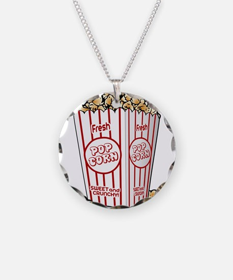 Movie Popcorn Necklace