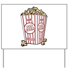 Movie Popcorn Yard Sign