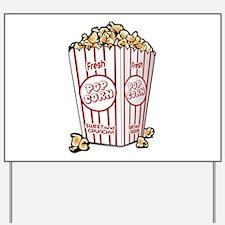 Movie Popcorn Yard Sign