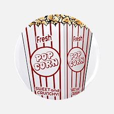 """Movie Popcorn 3.5"""" Button"""