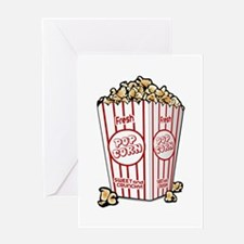 Movie Popcorn Greeting Cards