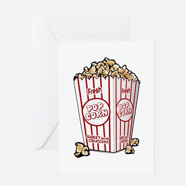 Movie Popcorn Greeting Cards