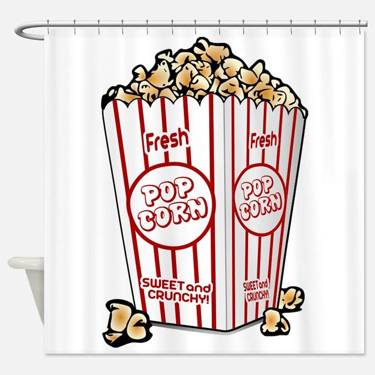 Movie Popcorn Shower Curtain